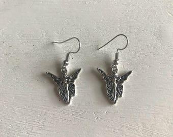 Fairy faerie drop earrings angle