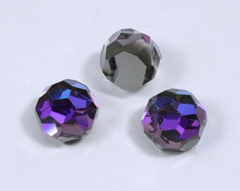 4860 12mm Heliotrope Faceted Globe #896