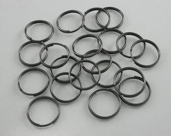 100pcs. Gunmetal Split Key Rings Key Chains Decorations Findings 20 mm. KC Gun20 0454