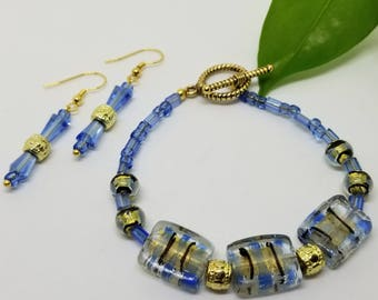 Lampwork & Czech Beaded Bracelet and Earring Collection