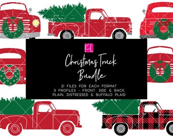 Christmas Truck svg Bundle, Old Truck svg, Vintage Truck svg, Christmas Wreath svg, Christmas Tree svg, Truck svg files, Christmas svg