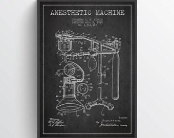 1919 Anesthetic Machine Patent Art Print, Medical Patent, Home Decor, Gift Idea, ME01P