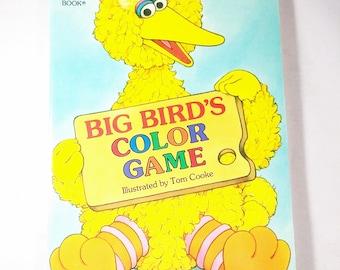 Board Book Big Bird's Color Game, Sesame Street Little Golden Book, LGB 1989 A Golden Sturdy Shape