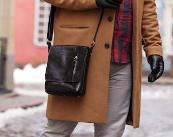 Leather messenger bag Cross body bag Leather tablet bag Travel bag Shoulder bag Leather organizer bag Birthday gift for dad Wedding gift