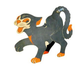 Halloween Black Cat Cut Out, Die Cut Stand Up Halloween Black Cat, Made in USA, H5