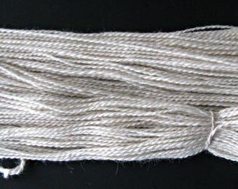 White Yarn, Suri Alpaca and Finn Sheep Yarn, 2 ply DK,  250 yards, Grown and Made in Michigan