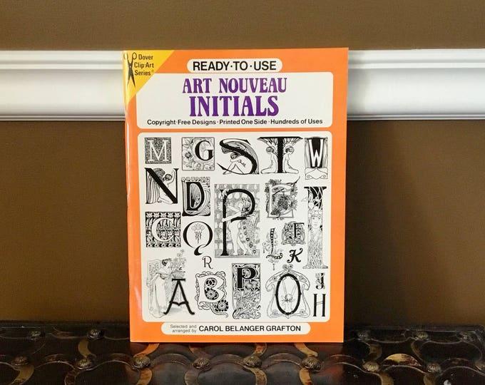 ART NOUVEAU Initials Clip Art Ready to Use DOVER Clip-Art Series 1989