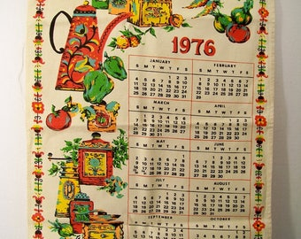 Bless This House 1976 Cloth Wall Calendar Vintage