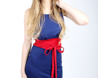 "MEKO ""Ryta"" Dress blue red Women's sleeveless"