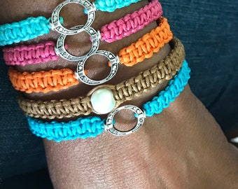 Cord bracelets / summer bracelets/ adjustable bracelets/ beach jewelry