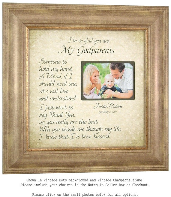 Godmother Godfather Gift Godparents Frame Gift Godchild