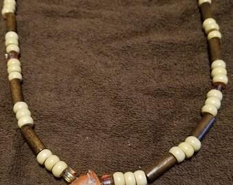 Large Orange Stone Necklace