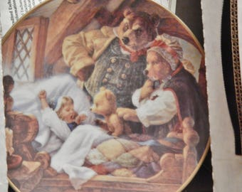 "GOLDILOCKS and the THREE BEARS---by Scott Gustafson---Knowles collector plates---Premier Edition of the ""Classic Fairy Tales"" series"