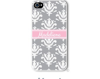 Damask Phone Case Monogram iPhone 6 Case Design Your Own iPhone 6s Case Samsung Galaxy S5 S6 Case iPhone 5 iPhone 6 Plus iPhone 5c Style 236