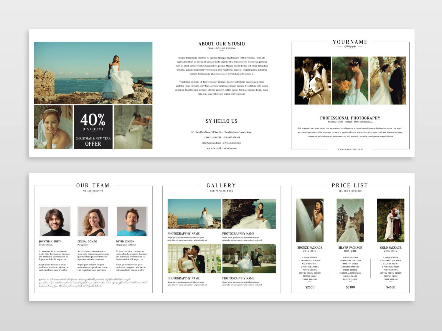 Wedding Photography Square Trifold Brochure X In Wedding - Photography brochure template