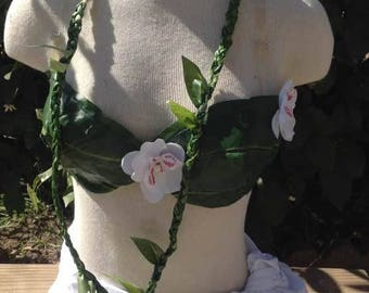 Silk Green/Ti Leaf Lei. Perfect for Wedding, Luau, Beach Wedding, Fathers Day, Mothers Day.