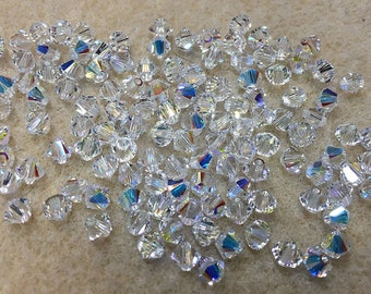 Crystal AB 5328 Bicone Swarovski Crystal Beads 4mm 24 beads