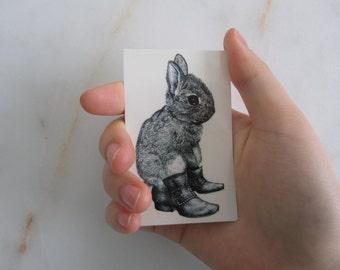 Temporary Tattoo - Bunny / Tattoo Flash