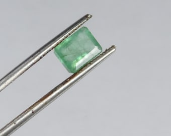 1.7 cts faceted emerald octagon cut Zambia