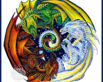 Dragon Dance Print