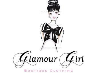 Character Illustrated Glamour Girl Premade Logo design