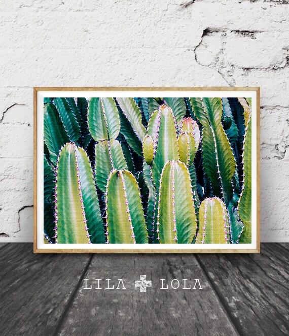 Cactus Photo Print, Botanical Wall Art, Western Decor, Arizona Desert Photo, Green Plant, Printable Instant Download, Large Poster Art