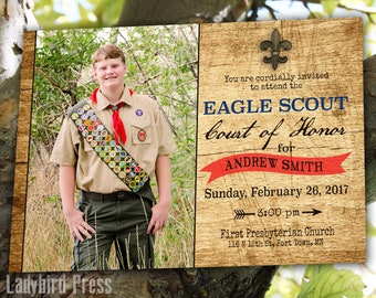 Printable Eagle Scout Court of Honor Invitation - Boy Scouts - Eagle - PDF