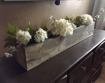 Long Rustic Wood Box / Planter