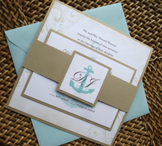 anchor wedding invitations anchor wedding invitation set nautical wedding invitations 1298
