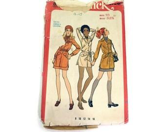 Butterick Vintage Pattern 5726 1969 Two Piece Dress