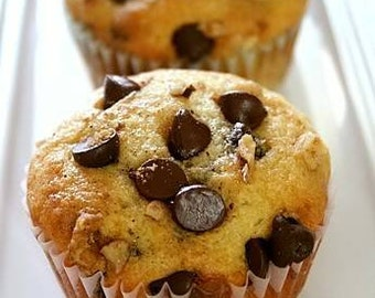 Lactation muffins - oatmeal chocolate chip muffins made from scratch with natural ingredients that help moms make more milk