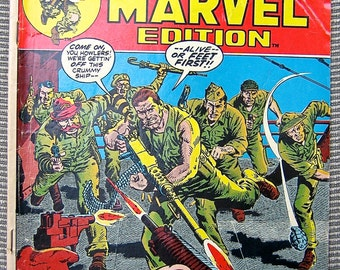 Old Comic Book, Sgt. Fury number 8, Special Marvel Edition, Vintage Comic Book, War, Veterans, Heroes, Army, Comic Book, Okinawa, 1970s