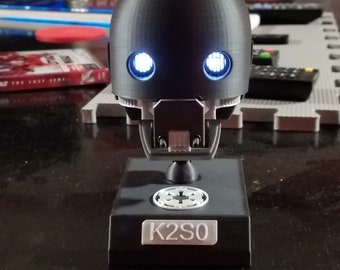 K-2SO Head Prop Replica with Illuminated Eyes