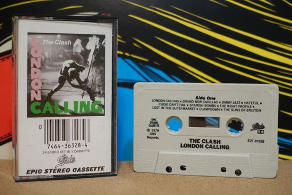 London Calling by The Clash Vintage Cassette Tape