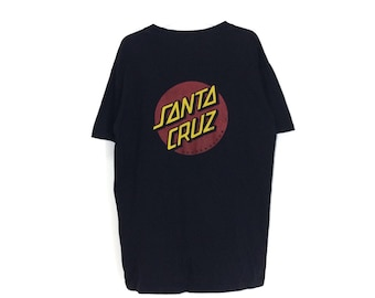 Vintage Santa Cruz Skateboard Shirt Black Color