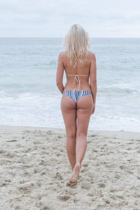 Our Skye Bottom in Navy and White Stripes made by SULTRY SWIMWEAR®