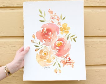 Custom Watercolor Florals, You tell me what to paint- I paint it!