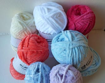 Yarn Sale  -  Chenille Worsted by Ice