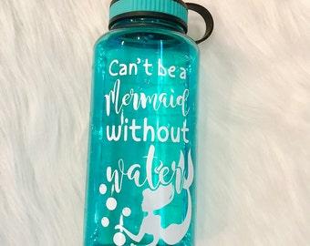 Mermaid Water Bottle 32oz