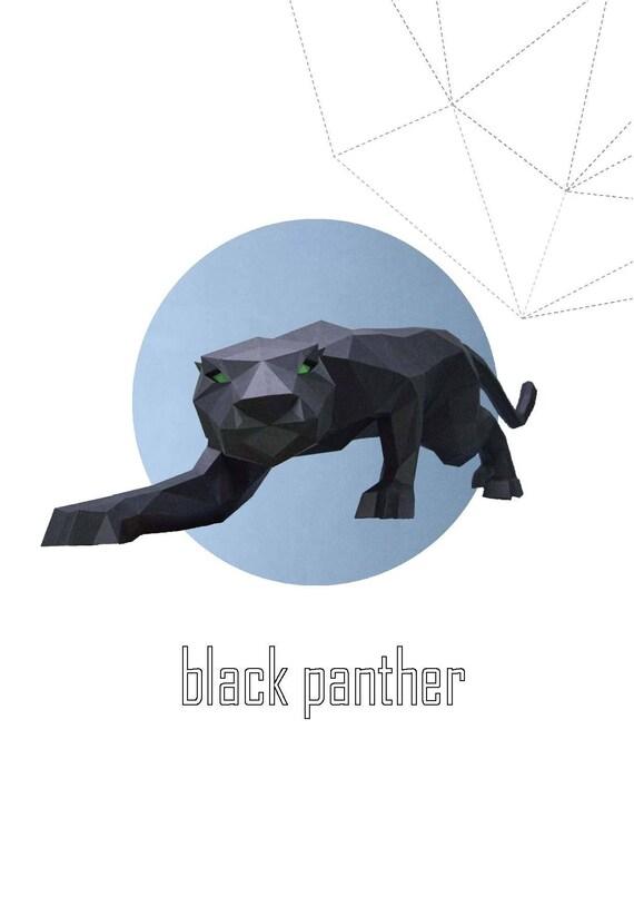 Papercraft Black Panther 3D papercraft Low Poly Paper