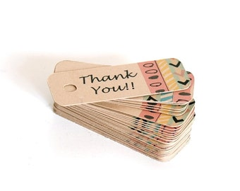 Thank You Tags / Thank You Favor Tags / Thank You Gift Tags / Kraft Tag / Wedding Favor Tags / Hang Tags / Spring Gift Tags