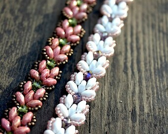 TUTORIAL - Lotus Chain, beaded bracelet with Super Duos