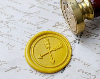Buy 1 Get 1 Free - 1pcs Double Arrow Gold Plated Wax Seal Stamp (W229)