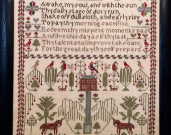 Ann Evans 1843 a Welsh Folk Art Sampler