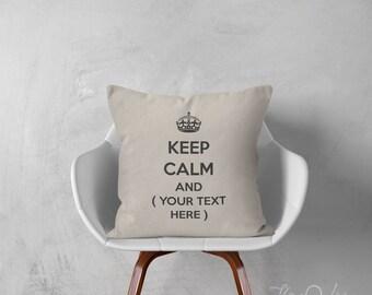 Keep Calm custom pillows decorative throw pillows typography pillow Keep Calm throw pillows design typography 16x20 inches pillows