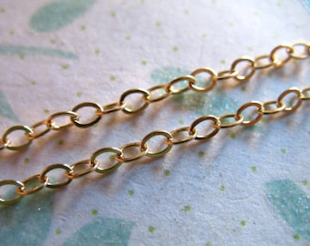 1.7 mm Gold Cable Chain, 14k Gold Filled Chain/ 1-100 feet, 10-18% less wholesale chain delicate unfinished  ssgf SGF17