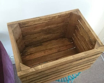 Rustic style wooden crate