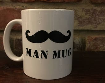 Man Up Mustache Coffee Mug