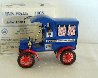 ERTL 1905 U.S Mail Truck Bank - Fourth Edition Collector Series - 1990 - Made in USA - MIB