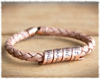 Womens Anniversary Gift • Copper Anniversary • Copper Bracelet • Personalised Jewelry • Long Distance Relationship